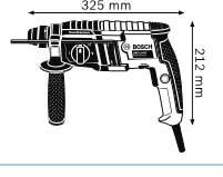 Габариты, Перфоратор с патроном SDS-plus GBH 2-20 D Professional