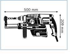 Габариты, Перфоратор с патроном SDS-plus GBH 2-23 REA Professional