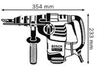 Габариты, Перфоратор с патроном SDS-plus GBH 3-28 DFR Professional