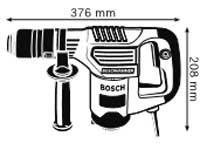 Габариты, Отбойный молоток с патроном SDS-plus GSH 3 E Professional