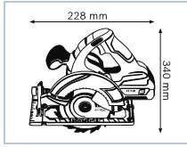 Аккумуляторная циркулярная пила 18 В GKS 18 V-LI Professional