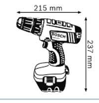 Габариты, Аккумуляторная дрель-шуруповёрт 12 В GSR 12 V Professional