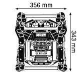 Габариты, Аккумуляторный радиоприёмник 14,4/18 В GML 50 Professional