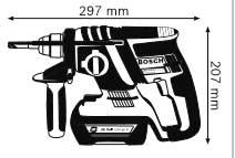 Габариты, Аккумуляторный перфоратор 36 В GBH 36 V-LI Compact