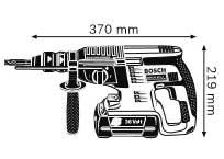 Габариты, Аккумуляторный перфоратор 36 В GBH 36 VF-LI Professional
