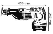 Габариты, Аккумуляторная ножовка 36 В GSA 36 V-LI Professional