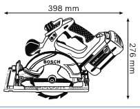 Аккумуляторная циркулярная пила с аккумулятором Compact 36 В GKS 36 V-LI Professional