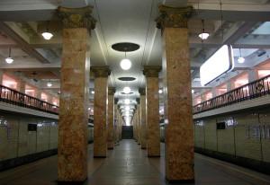 Центральный участок Сокольнической линии московского метро
