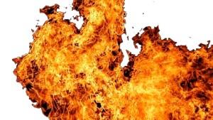 Пожар на складе горюче-смазочных материалов