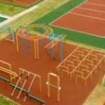 Новая спортплощадка в Казани