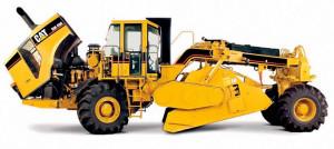 Cat RM500 – машина массой 27,5 т оснащена двигателем Cat® C15 мощностью 540 л.с. Ширина смешивания составляет 2,44 м.