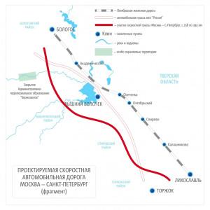 Тарифы на проезд по участку скоростной дороги М-11