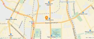 Московский квартал на карте