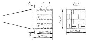 Пример конструкции концевого поглощающего