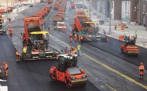 Рабочая техника покидает Тверскую Благоустройство магистрали Москвы з