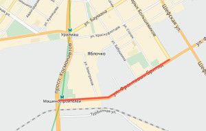 Улица Фронтовых Бригад закрыта на неделю на ремонт