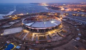 Раздвижная крыша и поле на стадионе «Крестовский» в Санкт-Петербурге не устроили