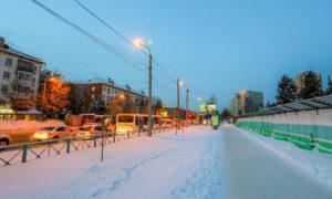 Застройка улицы Богдана Хмельницкого в Новосибирске