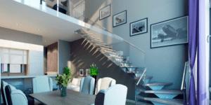 Двухуровневая квартира в жилом комплексе «Лица»