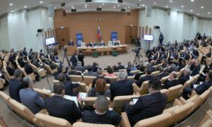 на заседании Совета Думы