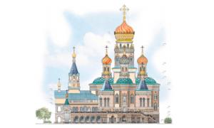 Строители храма на воде в Екатеринбуре