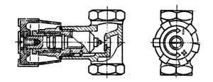 Кран регулирующий проходной с шиберным