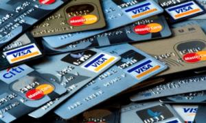 на кредитной карте