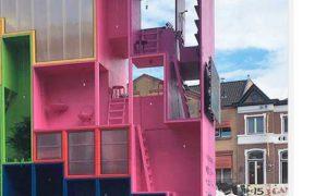 Кислотный дом-трансформер представили голландские архитекторы