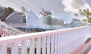 Мост в стиле биотек