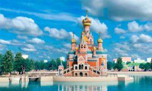 Строительство храма РПЦ с насыпном острове в Екатеринбурге