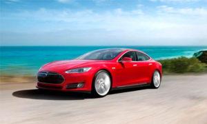 в виде автомобиля Tesla