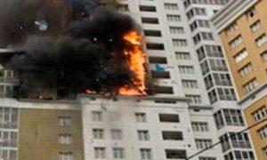 Пожар в 17-этажке в новой Москве