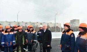Собянин открыл дорожную связку Мосфильмовская