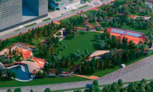 Парк на ЗИЛе в Москве