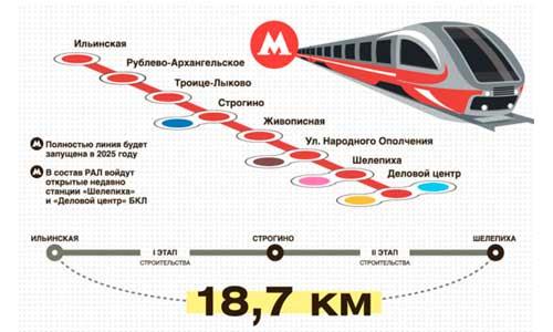 Восемь станций появятся на участке от «Делового центра»