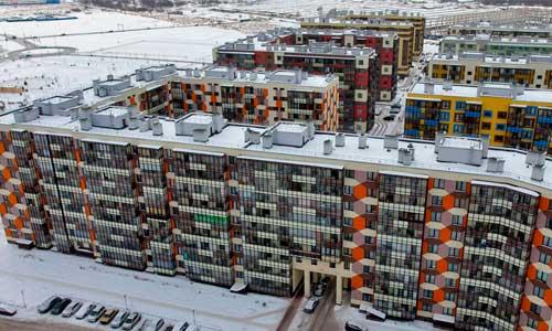 Объём ввода жилья в России вырос на четверть