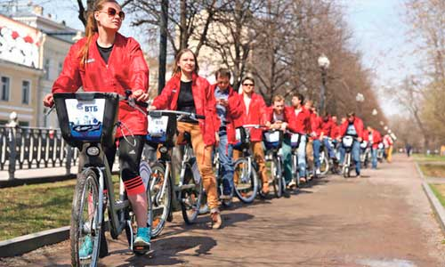 Городской велопрокат в Москве