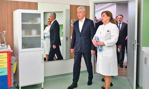 Сергей Собянин открыл первый объект медицинского кластера