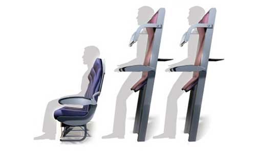 Стоячие места в самолётах