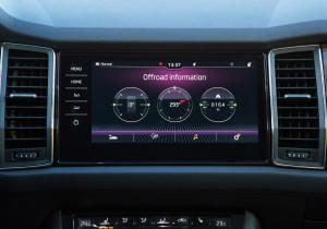 mid Groß-Gerau - Der Touchscreen zeigt auf Wunsch wichtige Daten für den Offroad-Einsatz an.