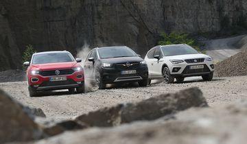 Opel Crossland X 1.2 DI Turbo, Seat Arona 1.0 TSI, VW T-Roc 1.0 TSI, Exterieur