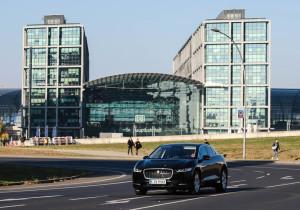Jaguar I-Pace des Mobilitätsdienstleisters Rocvin in Berlin.