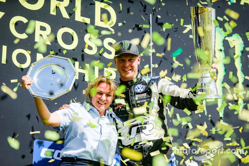 Erfolgsteam PSRX Volkswagen Schweden: Teamchefin Solberg und Weltmeister Kristoffersson