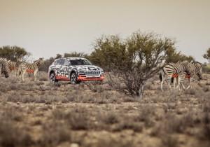 Audi e-Tron in Namibia.