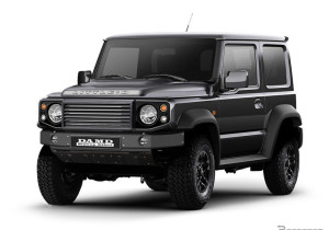 "Suzuki Jimny mit Damd-Verspoilerung ""Little D"" in Land-Rover-Defender-Optik."