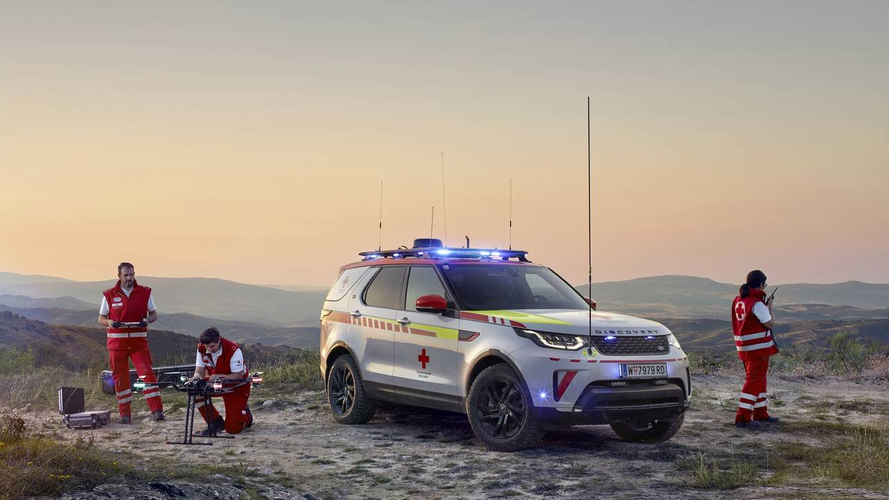 Land Rover Discovery Roten Kreuzes Notfallfahrzeug