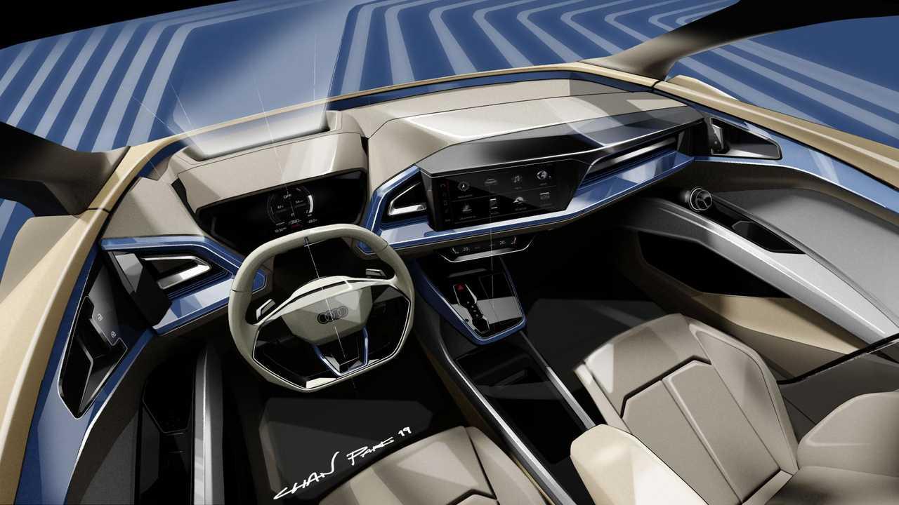 Bilder zum Audi Q4 e-tron teaser