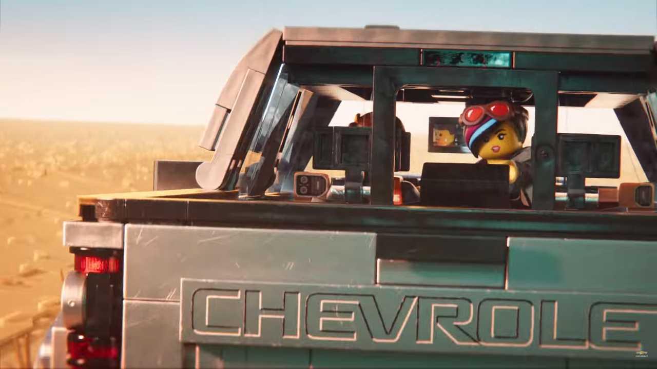 Chevy Silverado Lego-Filmanzeige