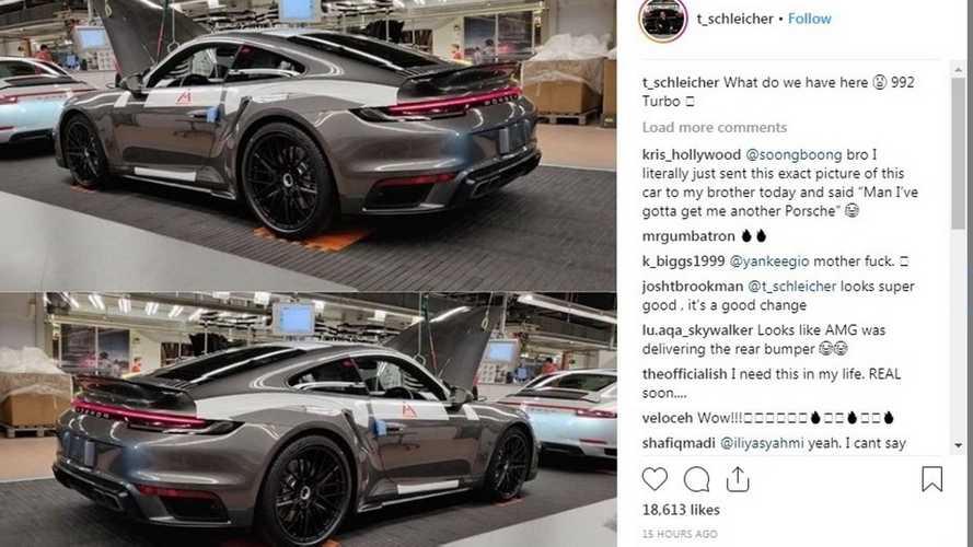 Porsche 911 Turbo (992) 2020 попасться совершенно ungetarnt