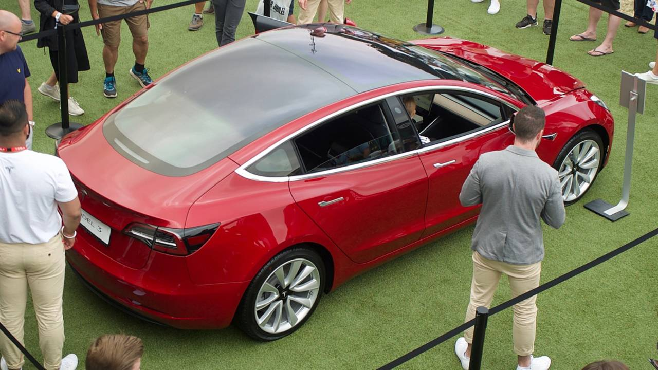 Tesla Model 3 au Festival of Speed de Goodwood 2018